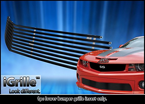 Fits 2010-2013 Chevy Camaro SS V8 Bumper Black Stainless Steel Billet Grille #C66742J (2010 Camaro Ss Bumper compare prices)