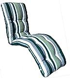 Brand New Replacement Garden Recliner Relaxer Chair Cushion Green Stripe Pattern
