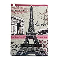 Eiffel Tower Picture Silicone Back Case Cover For Ipad Air / 5