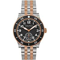 Nautica NAPHST004 Black Dial Men's Watch (Stainless Steel)