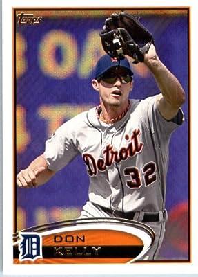 2012 Topps Baseball Card # 412 Don Kelly - Detroit Tigers - MLB Trading Card