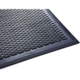 Guardian Clean Step Scraper Floor Mat, Rubber, 3'x5', Black