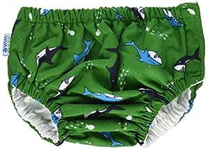 My Swim Baby Diaper New Sizing, Green Chomp, Large