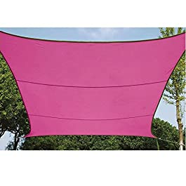 Perel - Toldo para jardín Vela de sombra Cuadrado UV 3,6m Impermeable (Fucsia)