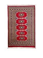 Navaei & Co. Alfombra Kashmir Rojo/Multicolor 153 x 95 cm