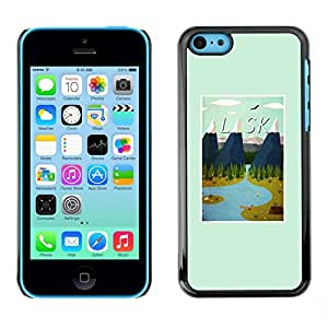 Omega Covers - Snap on Hard Back Case Cover Shell FOR Apple iPhone 5C - Winter Mountains Poster Usa State