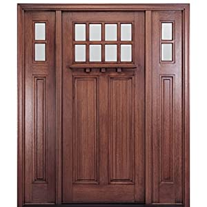 mahogany craftsman style door htc500 1 2 mai doors