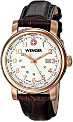 Wenger Women's 01.1021.108 Urban Classic 3H Analog Display Swiss Quartz Black Watch