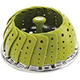 """Joie Collapsible Vegetable Steamer Basket, Silicone Coated Stainless Steel, Adjustable, Expands to 9"""" (22 cm)"""