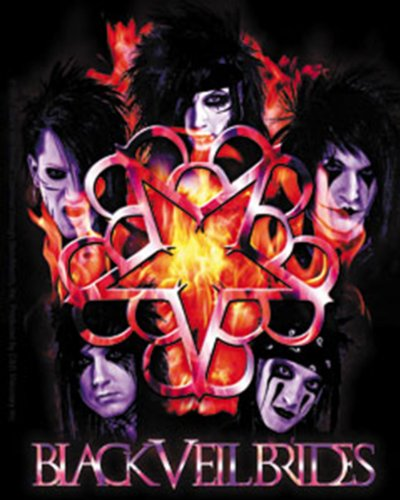 Licenses Products Black Veil Brides Inferno Sticker - 1