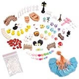 eZAKKA Miniature Ornaments Kit Set with Storage Box for DIY Fairy Garden,Home Decoration and Outdoor Plant Decoration,86pcs of pack