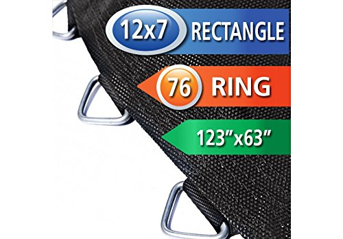 12x7-Rectangle-Trampoline-Mat-uses-76-Rings-for-75-Springs-Springs-Seperately