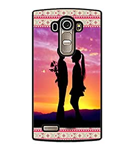 PrintDhaba Couple D-3613 Back Case Cover for LG G4 (Multi-Coloured)