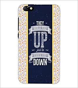 PrintDhaba Quote D-4821 Back Case Cover for HUAWEI HONOR 4X (Multi-Coloured)