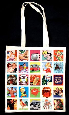 Retro Mini Pics Shopping Bag