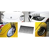 Car Headlight Eyelashes - Universal Fits Any Car - High Quality Decal