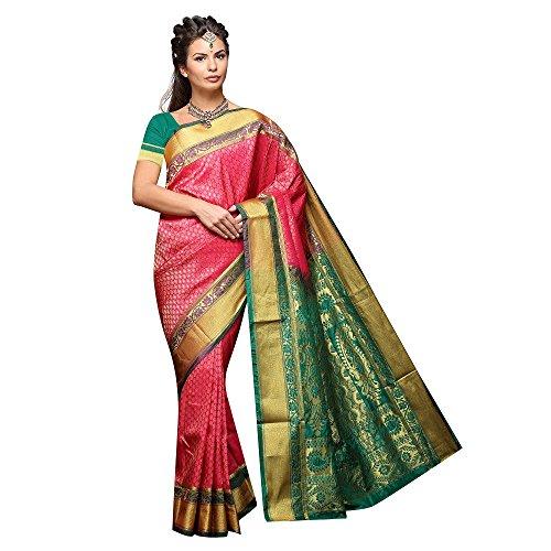 Mahila Silks GAJARI Traditional Paithani Sarees