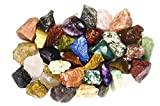 "2 Pounds (BEST VALUE) Bulk Rough INDIA Stone Mix - Over 25 Stone Types - Garnet, Lapis Lazuli, Amethyst, Moonstone, Fancy Jasper, Red Carnelian, Sodalite, Tree Agate, Iolite, Unakite, Landscape Jasper, Clear Quartz, Sunstone, Yellow Aventurine, and MUCH MORE! - Large 1"" Natural Raw Stones & Fountain Rocks for Cabbing, Cutting, Lapidary, Tumbling & Polishing and Reiki Crystal Healing *Wholesale Lot*"
