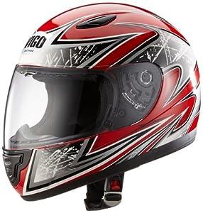 Protectwear SA03-RT-XS Kinder Motorradhelm, Integralhelm, Größe XS, Rot/Silber
