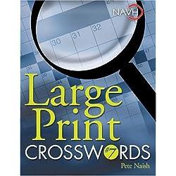 Large Print Crosswords #7 Spiral-bound
