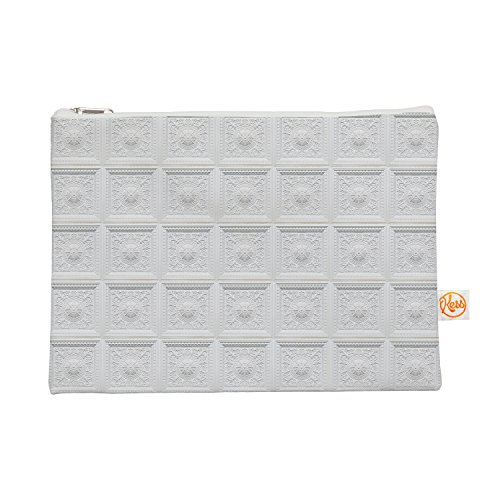 kess-inhouse-kess-original-palace-ceiling-tiles-white-abstract-everything-bag-85-x-6-kih228aep01