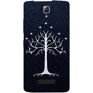 Casotec Magic Tree Pattern Design Hard Back Case Cover for Lenovo A2010