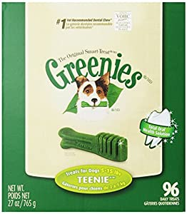 Greenies Canine Dental Chews, Treats For Dogs Teenie 27 oz (Pack of 2)