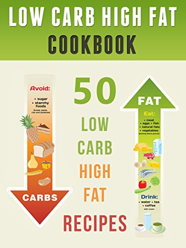 Low Carb High Fat Cookbook: Top 50 Most Delicious LCHF Recipes [LCHF Cookbook, Sugar Free Recipes, Low Carb Recipes, Low Carb Cookbook, Ketogenic cookbook] (Recipe Top 50's Book 69) by Julie Hatfield