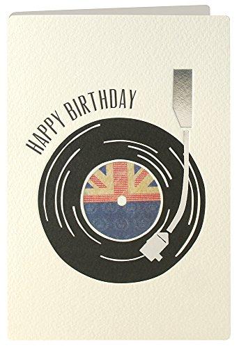 tarjeta de felicitación para el cumpleaños retro giratoria Press