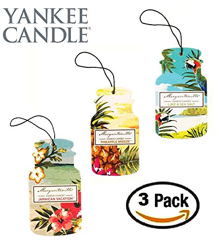 Yankee Candle Car Jar -- Margaritaville Summer Trio - Pineapple Breeze, Jamaican Vacation, Lime and Sea Salt -- Set of THREE Car Jars