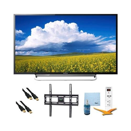 """40"""" Led 1080P Smart Hdtv Motionflow Xr 240 Mount & Hook-Up Bundle - Kdl40W600B. Bundle Includes Tv, Flat Tv Mount, 3 Outlet Surge Protector W/ 2 Usb Ports, 2 -6 Ft High Speed Hdmi Cables, Performance Tv/Lcd Screen Cleaning Kit, And Cleaning Cloth."""