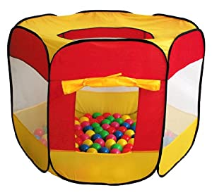 100-Pit-Ball Play Tent Popup Hexagon Mesh Kids House Twist Pool from iPlay