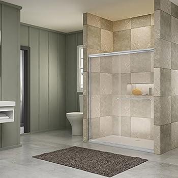 SUNNY SHOWER B020, Frameless Bypass Sliding Shower Doors, 56