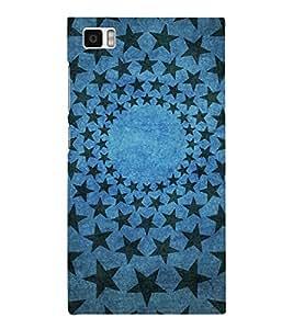 DARk STARS IN LIGHT BLUE BACKGROUND 3D Hard Polycarbonate Designer Back Case Cover for Xiaomi Redmi Mi3 :: Xiaomi Mi 3