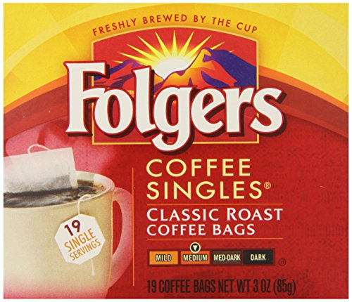 Folgers Classic Medium Roast Coffee Singles Serve Bags, 114 Count, 6 pack (Instant Coffee Single Packs compare prices)