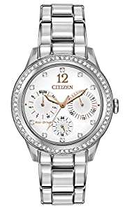 Citizen Eco-Drive LadiesÕ Crystal Day/Date Watch, FD2010-58A
