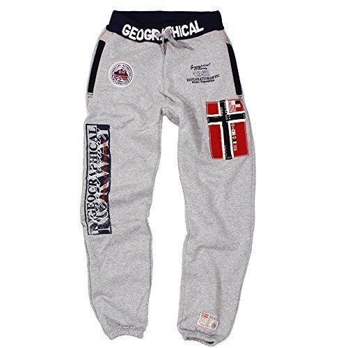 GEOGRAPHICAL NORWAY Myer pantaloni da jogging da uomo grigio L