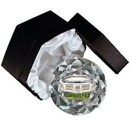 NFL Green Bay Packers Lambeau Field on a 4-Inch High Brillance Diamond Cut Crystal Paperweight