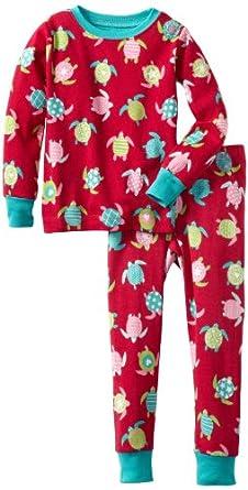 Hatley Little Girls'  Pajama Set, Sea Turtles, 4T