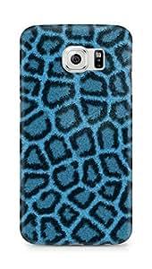 Amez designer printed 3d premium high quality back case cover for Samsung Galaxy S6 (Leopard Hide Blue)