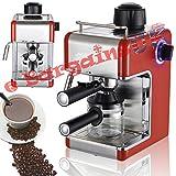 Kitchen - Professional Espresso and Cappuccino Coffee Machine (Red)