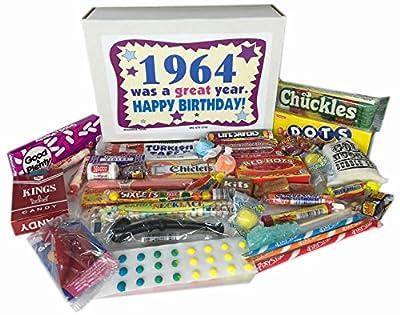 1964 52nd Birthday Gift Basket Box Jr. Retro Nostalgic Candy Born '60s