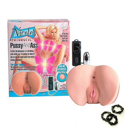 California Exotics / Swedish Erotica Nicole Futurotic Tush and Vagina Masturbator Adult Sex Toy Kit