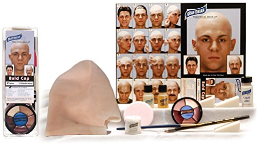 Graftobian Complete Latex Bald Cap Kit with Instructions (Bald Cap With Hair compare prices)
