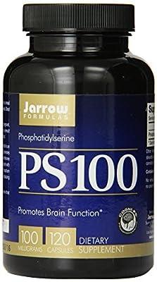 Jarrow Formulas Ps-100 Phosphatidylserine 100mg, 120 Capsules (Pack of 3)