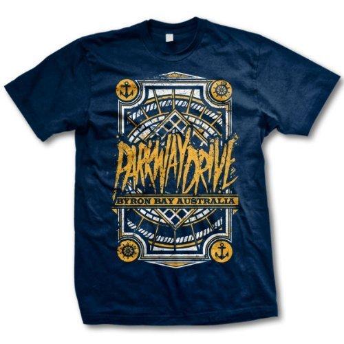 Parkway Drive - Uomo Byron Bay Shield T-Shirt, Small, Nero
