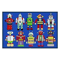 Olive Kids Go Robots Rug