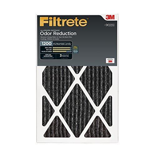 Filtrete Allergen Defense Odor Reduction Filter, MPR 1200, 20- x 30 x 1-Inches, 6-Pack by Filtrete