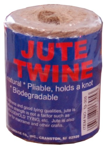 T.W . Evans Cordage 13-209 3 Poly 20 Brown Jute 219-Feet Tube