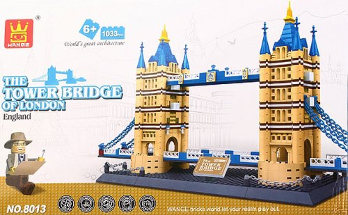 The Tower Bridge of London England Building Block Bricks 1033pc Compatible Architecture Toys K0056-3